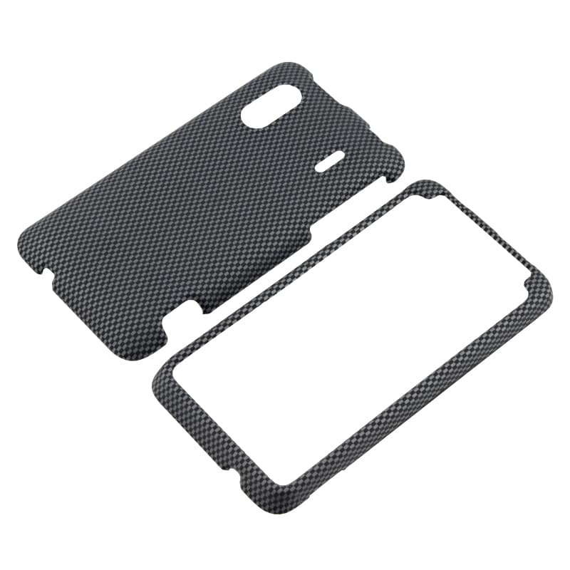 Carbon Fiber Snap-on Rubber Coated Case for HTC EVO Design 4G