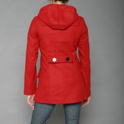 Red Fox Women's Red Wool-blend Toggle Coat - Thumbnail 2