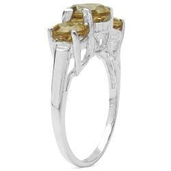 Malaika Sterling Silver Champagne Quartz Ring