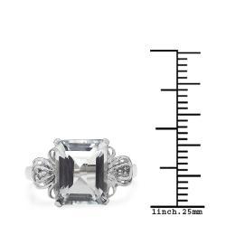Malaika Sterling Silver Crystal Quartz and White Topaz Ring
