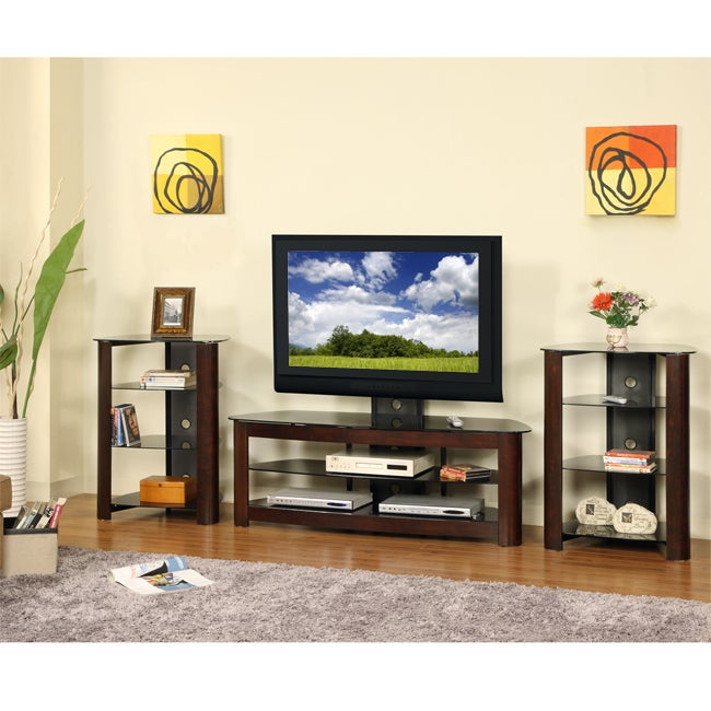 60 in. Corner TV Stand with 2 Component Stands