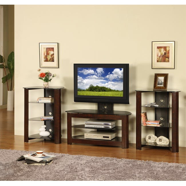 Shop 42 Inch Corner Tv Stand With Two Component Stands Free