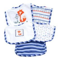 Piccolo Bambino Blue Cotton Bibs (Set of 5) - Thumbnail 1