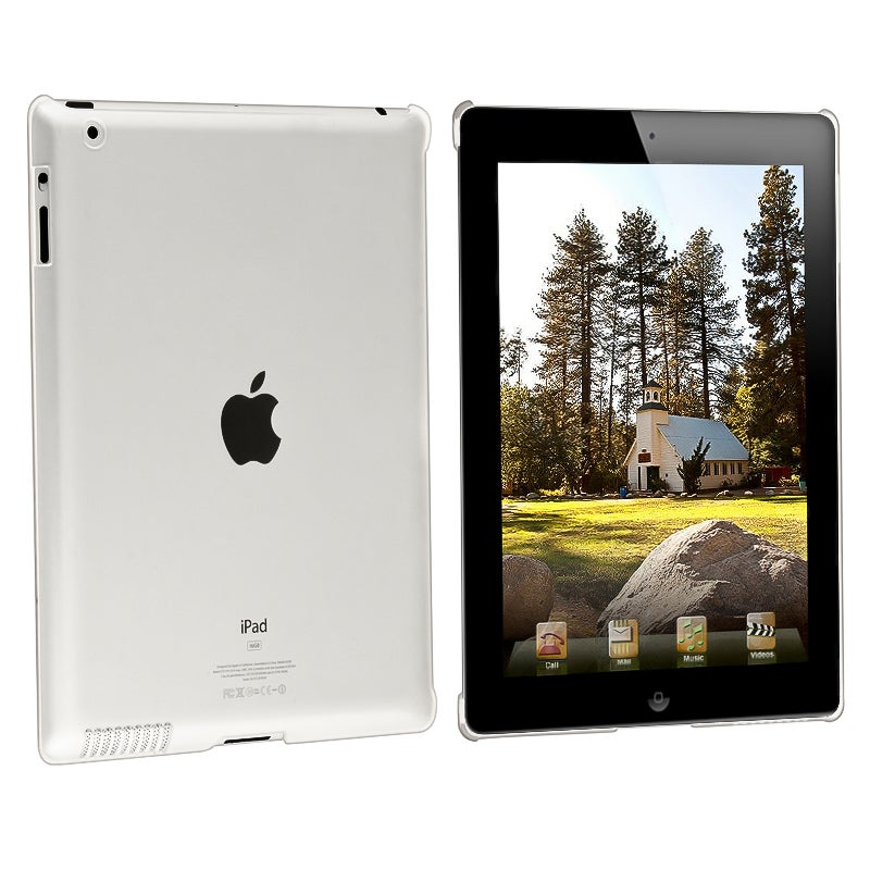 Clear Snap-on Crystal Case/ Screen Protector for Apple iPad 2