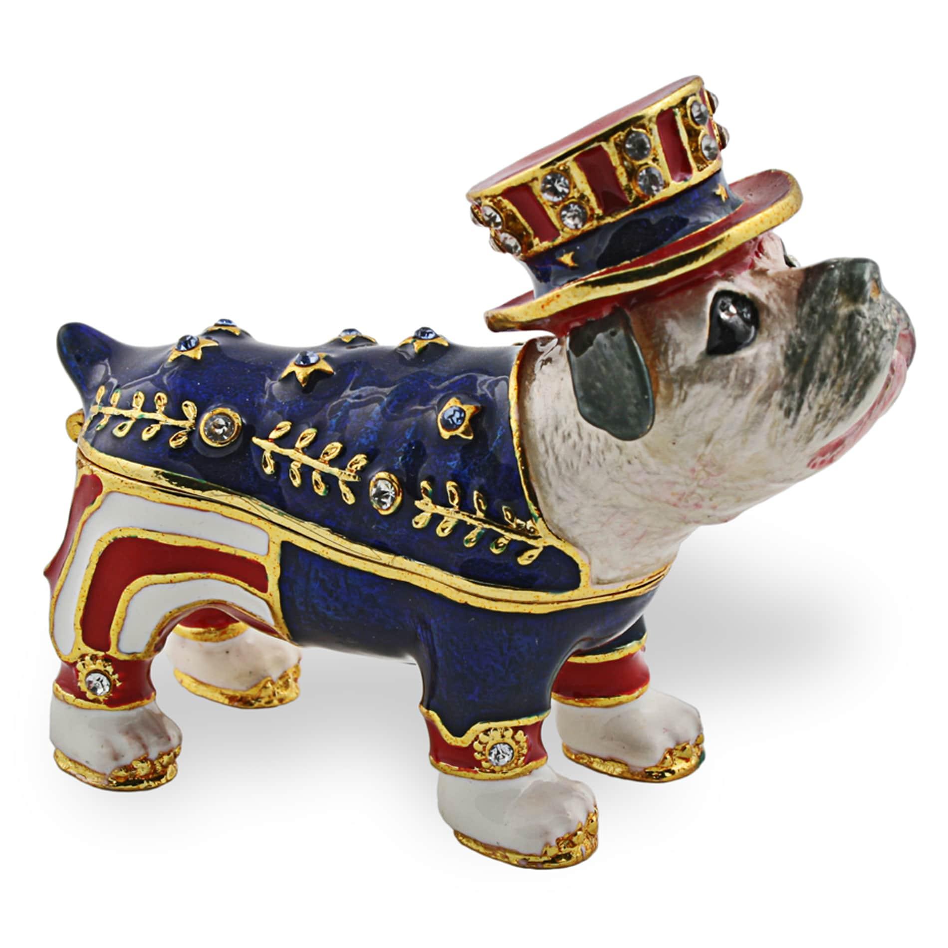 Objet d'art 'Sparky' USA Bulldog Trinket Box