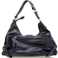 Dasein Two-tone Croco Trimmed Faux leather Hobo Bag - Thumbnail 2