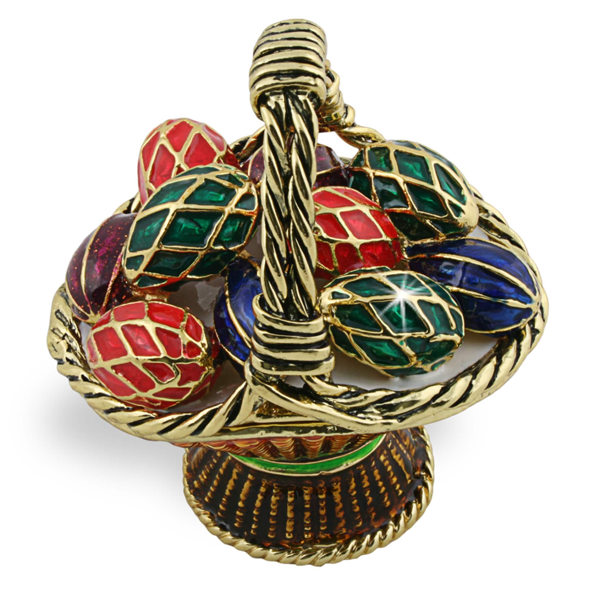 Objet d'art 'Hanacke Kraslice' Easter Egg Basket Trinket Box