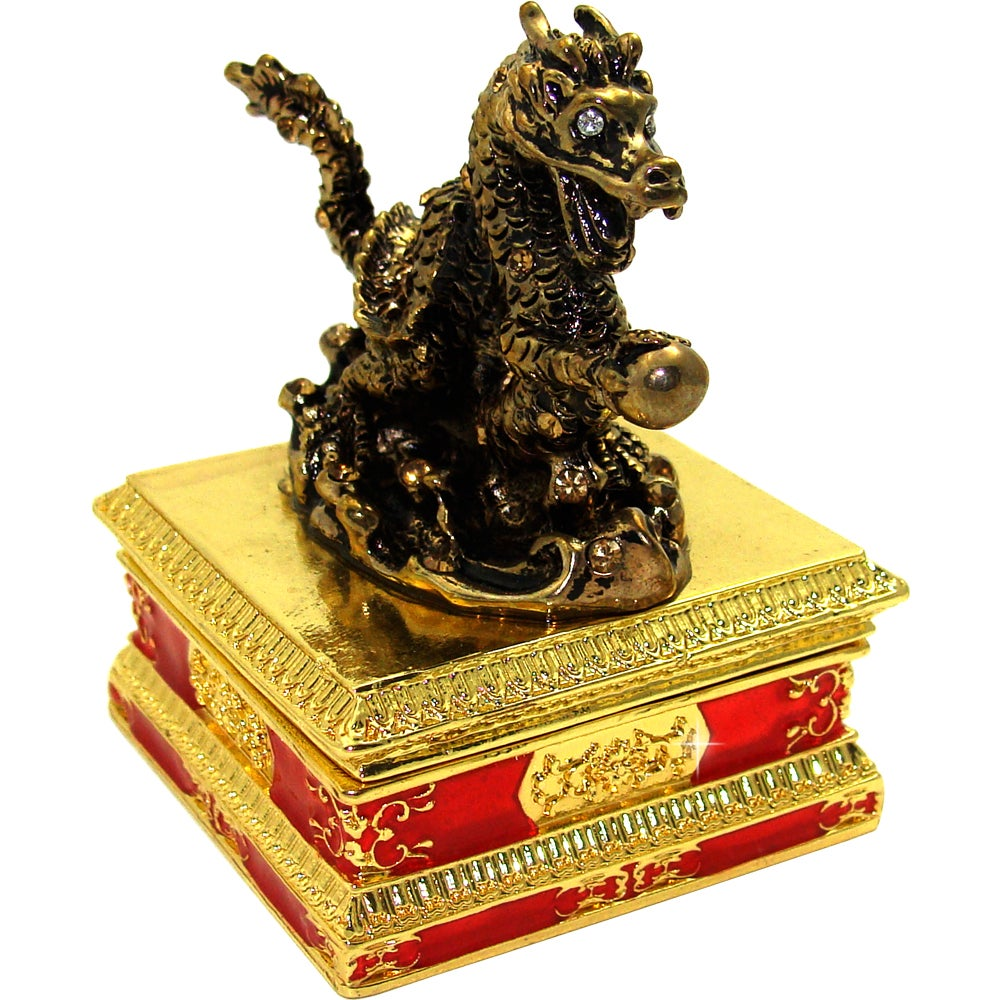 Objet d'art 'Son of Heaven' Chinese Dragon Trinket Box