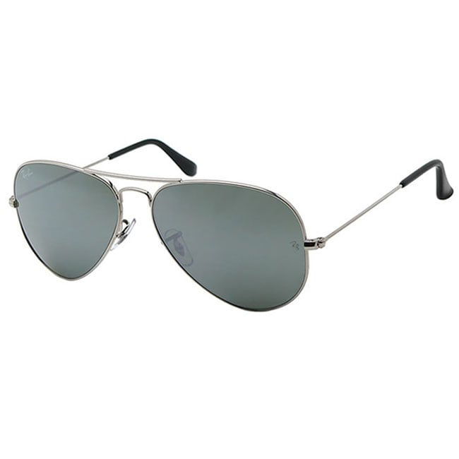 Ray-Ban Women's Shiny Silver Aviator Sunglasses