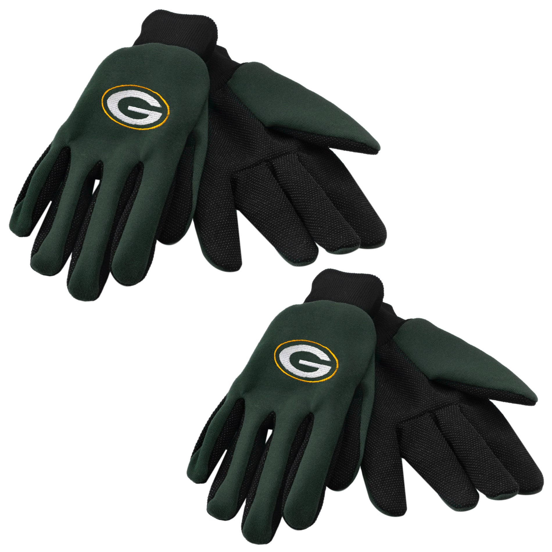 Green Bay Packers Two-tone Gloves (Set of 2 Pair)