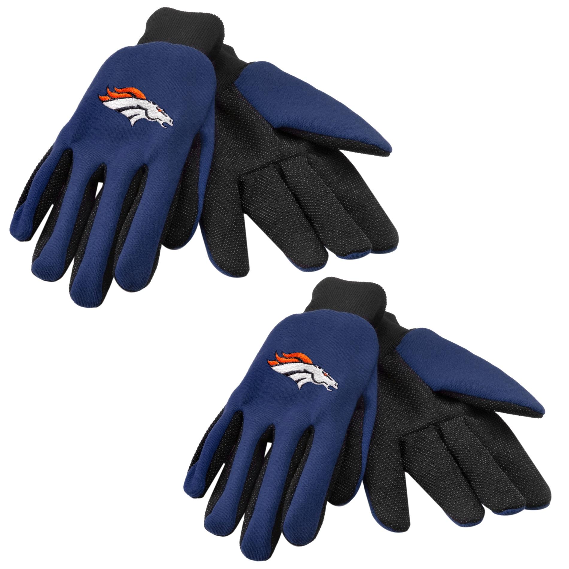 Denver Broncos Two-tone Work Gloves (Set of 2 Pair)