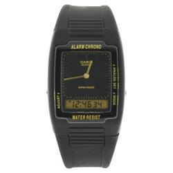 Casio Men's AQ47-1E Black Rubber Quartz Watch