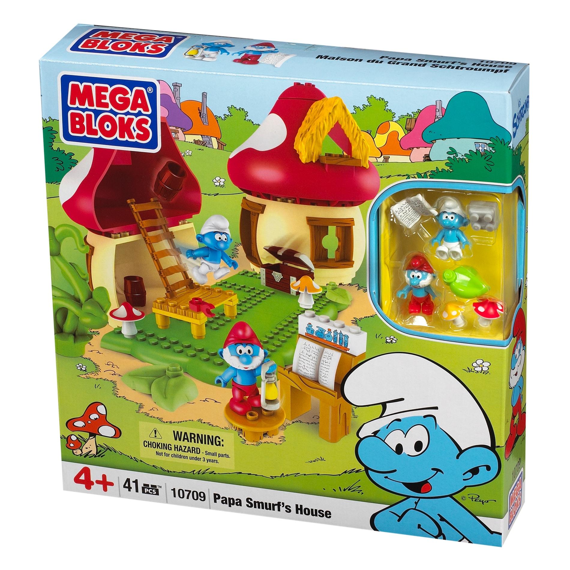 Mega Bloks Smurfs Papa Smurf Play Set