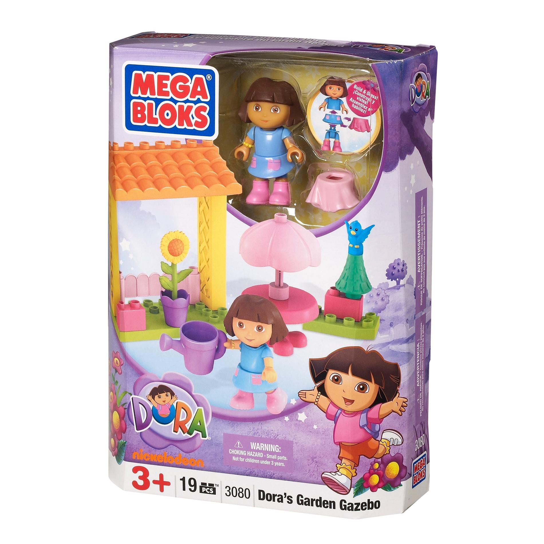 Mega Bloks Dora The Explorer Garden Gazebo Play Set