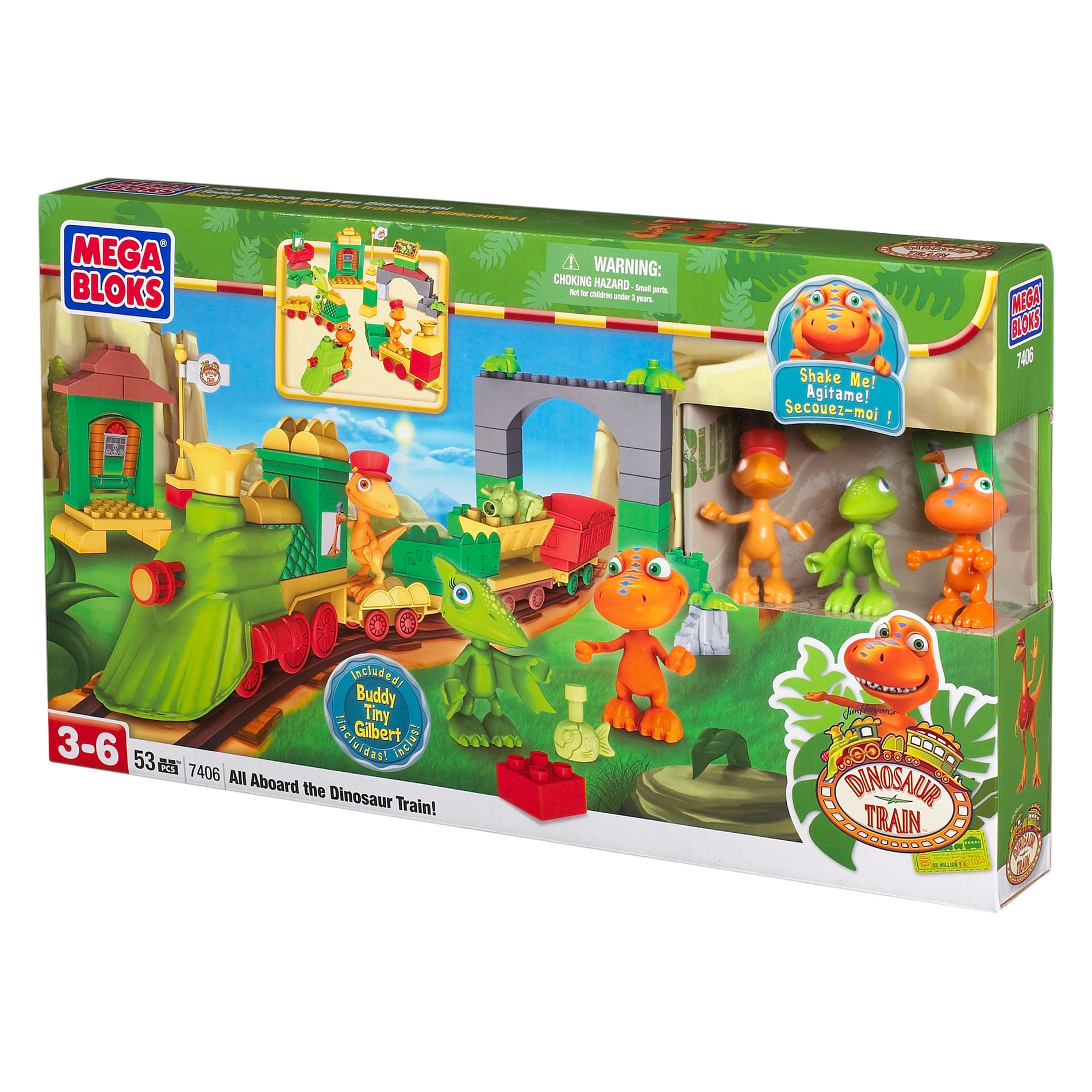 Mega Bloks Dinosaur Train All Aboard the Dinosaur Train Play Set