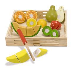 Melissa & Doug Cutting Fruit Crate Play Set
