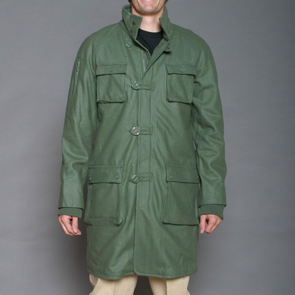 Cloth Logic Men's Olive Green Long Jacket