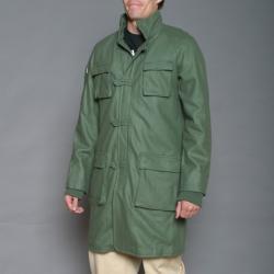 Cloth Logic Men's Olive Green Long Jacket - Thumbnail 2