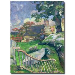 Paul Gauguin 'The Pig Keeper, 1889' Canvas Art