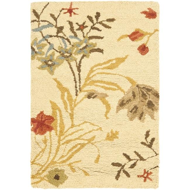 Safavieh Handmade Blossom Beige Wool Rug - 2' x 3'
