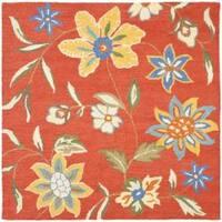 Safavieh Handmade Blossom Rust Wool Area Rug - 6'