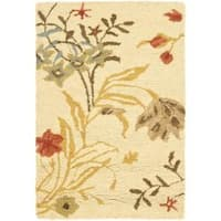Safavieh Handmade Blossom Beige Wool Rug (2' x 3') - 2' x 3'