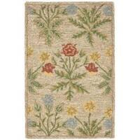 Safavieh Handmade Blossom Beige Wool Rug - 3' x 5'