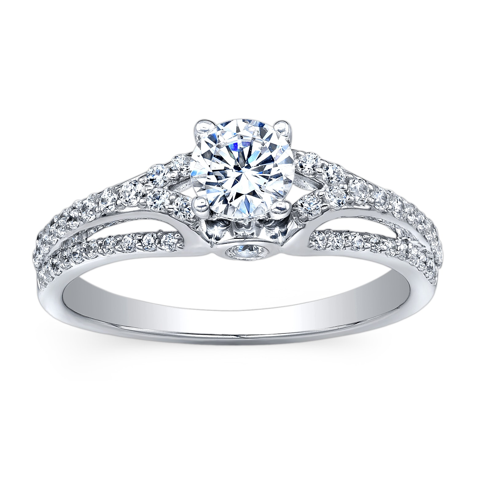 14k White Gold 1ct TDW Diamond Engagement Ring (HI, I2-I3)