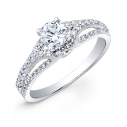 14k White Gold 1ct TDW Diamond Engagement Ring (HI, I2-I3) - Thumbnail 1