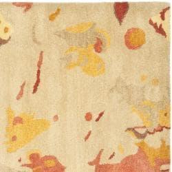 Safavieh Handmade Soho Splashes Modern Abstract Beige Wool Rug (6' x 6' Square) - Thumbnail 1