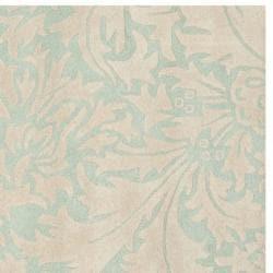 Safavieh Handmade Bliss Beige/ Blue New Zealand Wool Rug (6' Square) - Thumbnail 1