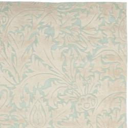 Safavieh Handmade Bliss Beige/ Blue New Zealand Wool Rug (7'6 x 9'6)