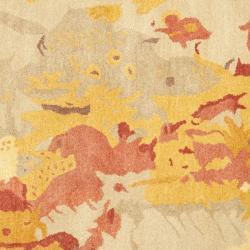 Safavieh Handmade Soho Splashes Modern Abstract Beige Wool Rug (6' x 6' Square) - Thumbnail 2