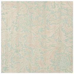 Safavieh Handmade Bliss Beige/ Blue New Zealand Wool Rug - 6' x 6' Square - Thumbnail 0