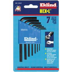 Eklind Tool 9-Piece Long Arm Metric Hex Key