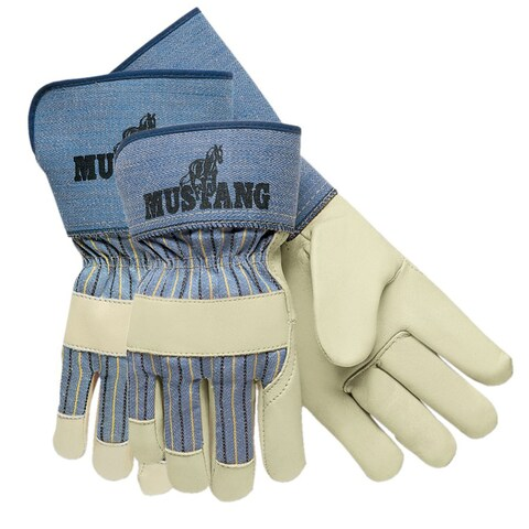 Memphis Glove Grain Leather Palm Large Gloves (Qty 12)