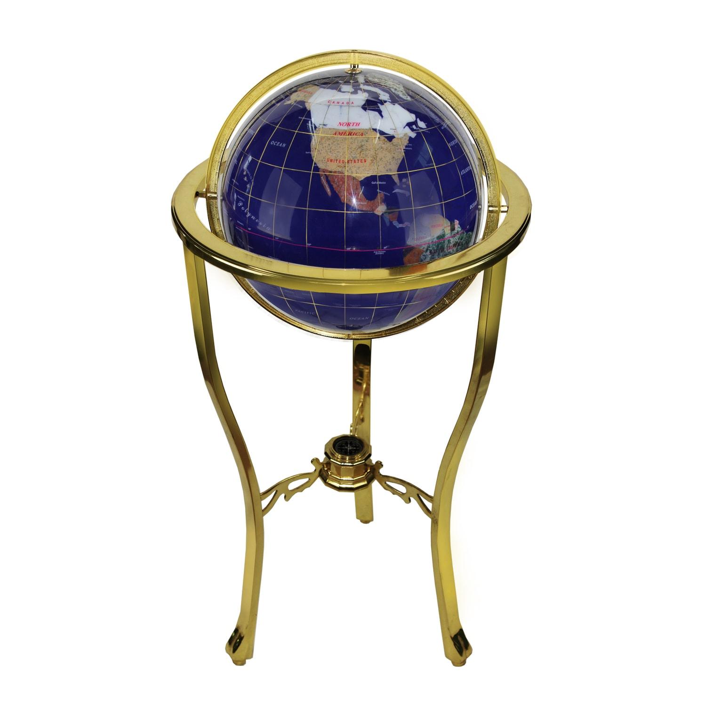 Allure by Jay Blue Tri-foot Lapis/ Gemstone Globe