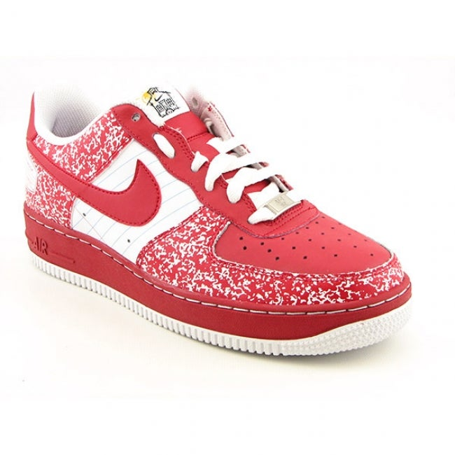Nike Boys' Air Force 1 Varsity Red/ White Shoes