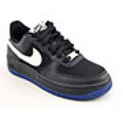 Nike Boys' Air Force 1 Black/ White/ Old Royal Blue Basketball Shoes (Size 5)