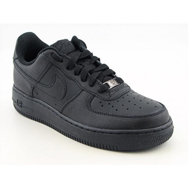 Nike Boys' Air Force 1  Black Basketball Shoes