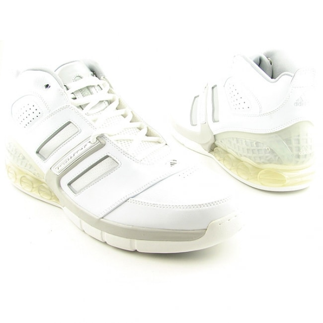 2d0db7a1d Shop Adidas Men s  Bounce Artillery II  White Basketball Shoes ...