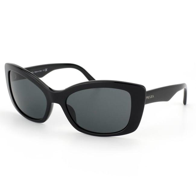 Prada Women's PR 03NS 1AB1A1 Black Plastic Fashion Sunglasses