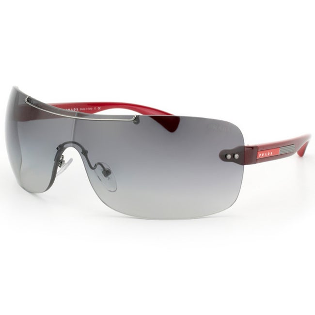 Prada Women's Sport Red Shield Plastic Sunglasses