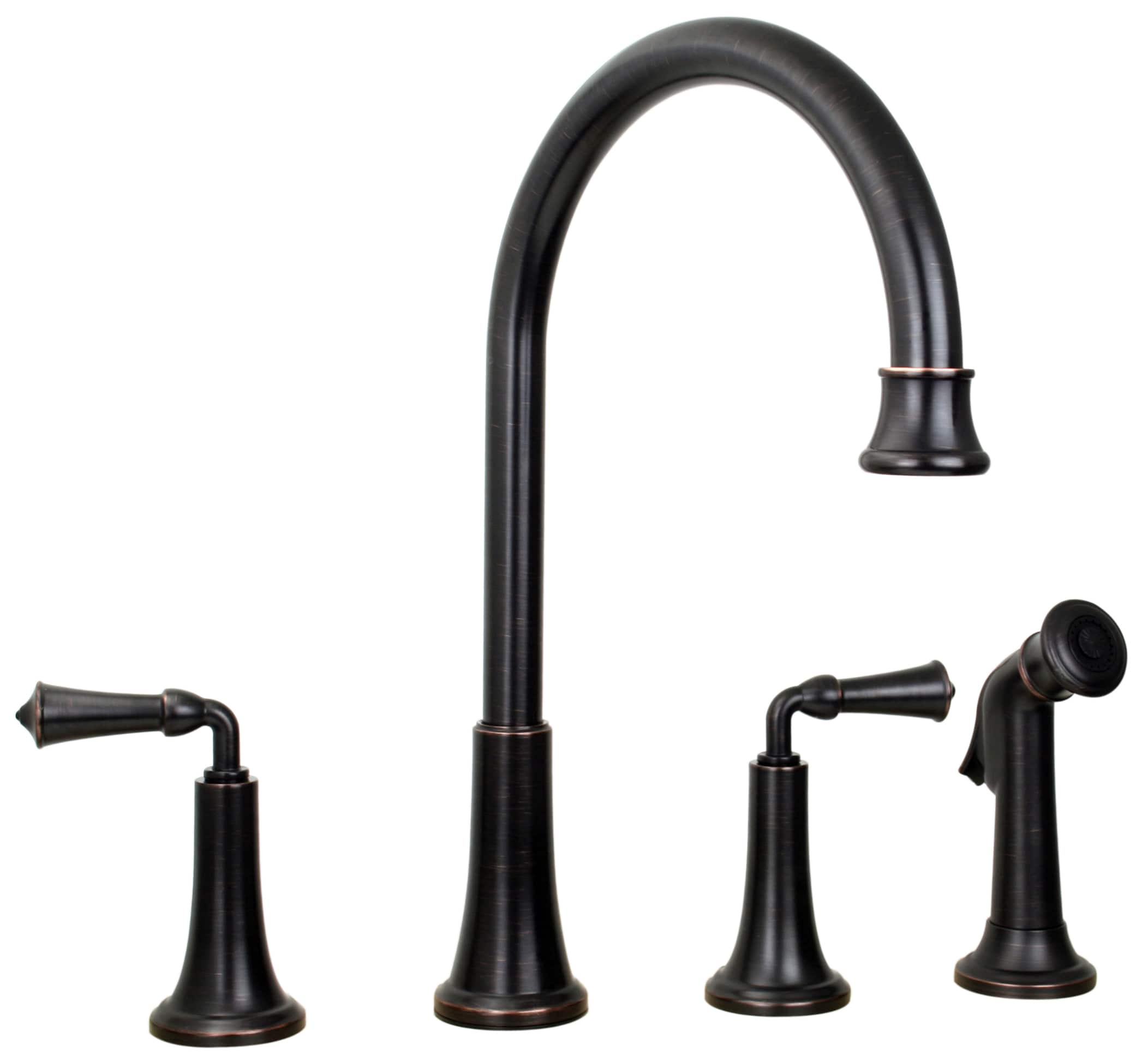 Shop Price Pfister Bellport Tuscan Bronze Two-handle Kitchen Faucet ...