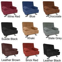 Phoenix Oversized Chair Microfiber Futon Bed Sleeper