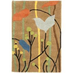 Safavieh Handmade New Zealand Wool Gardens Brown Rug (2' x 3')