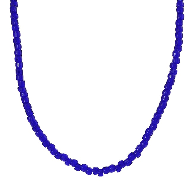 Journee Sterling Silver Children's Blue Bead Necklace
