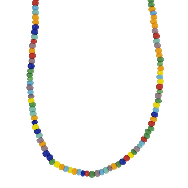 Journee Sterling Silver Children's Multicolored Bead Necklace