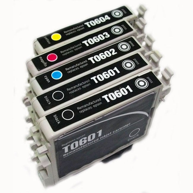 Epson T060 Black/ Color Ink Cartridges (Remanufactured) (Pack of 5)