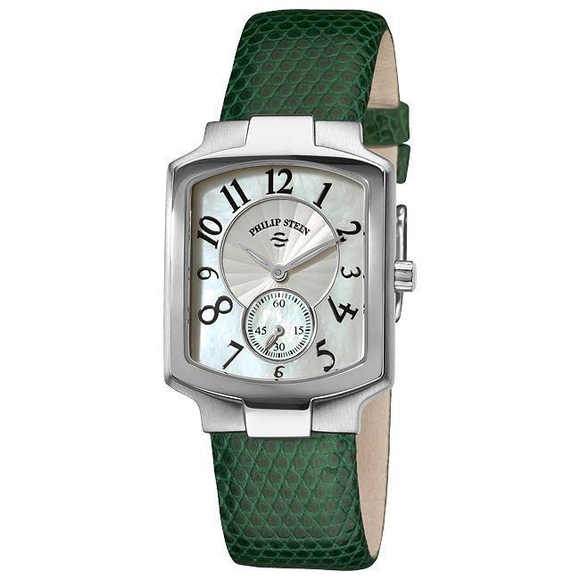 Shop Philip Stein Women S Classic Forest Green Leather